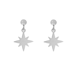 Stud earrings  with charm - NORTHSTAR - zilver