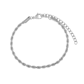 armband twisted - zilver