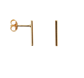 Bar earring long - goud