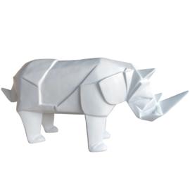 Origami neushoorn - wit