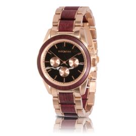 houten horloge met chronograaf - ROYAL PELTOGYNE