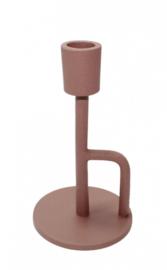 kandelaar coco 16 cm - poedercoat roze