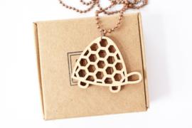 Studio Maas - lange ketting houten schildpad