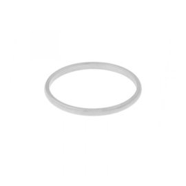 Ring basic rond - zilver