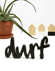 houten letters - durf