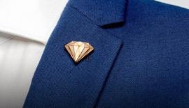 houten speldje - Diamond