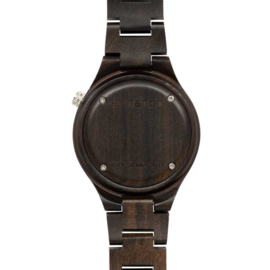 horloge van sandelhout en zwart marmer - Foresta HOT&TOT