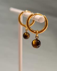 Hoops marble tijgeroog - goud