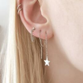 Long chain earrings NORTHSTAR - zilver