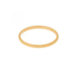 Ring basic rond - goud