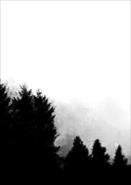 Helianthe's Kaartenhuis - print donkere bomen 2