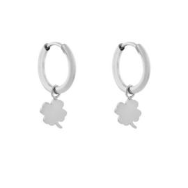 Hoops charm CLOVER - zilver