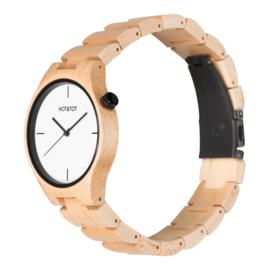 houten horloge van esdoornhout - Yale Hot&Tot