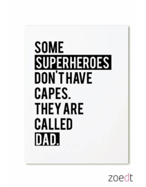 Zoedt kaart A6 - some superheroes don't have capes..