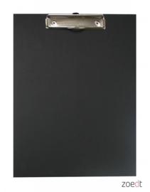 houten klembord met zwarte krijtbordverf