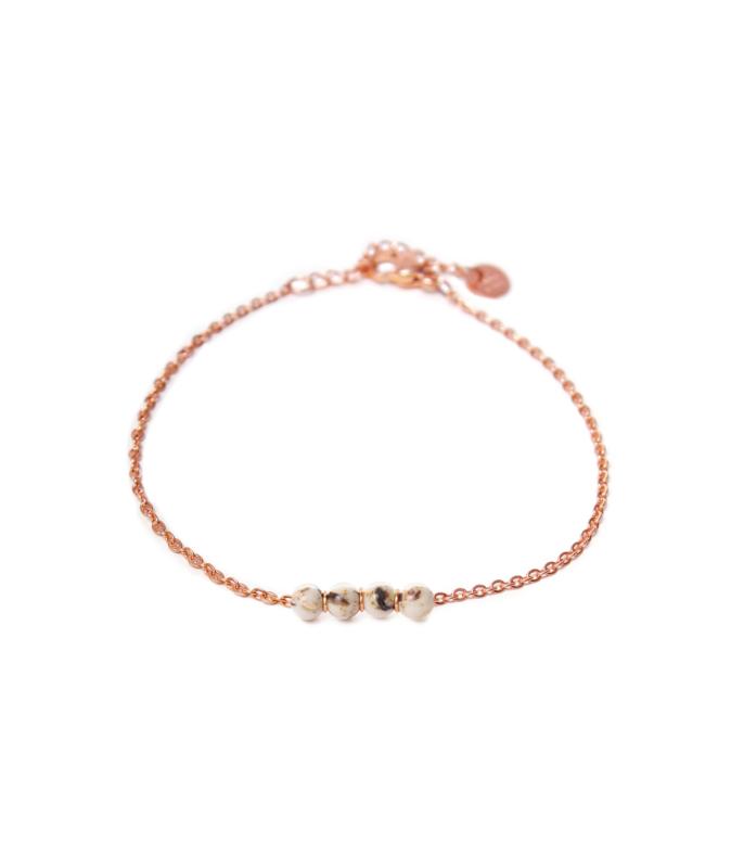 Armband - Jade Shell Rosegold