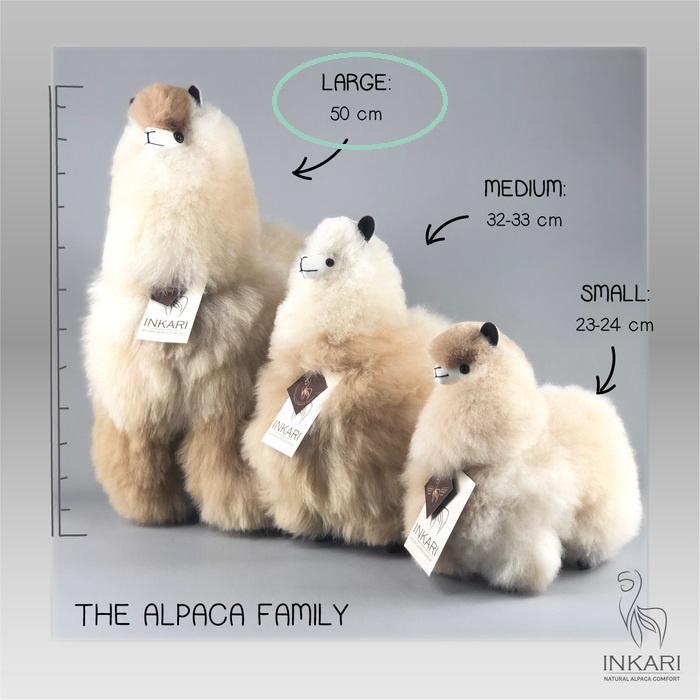 alpaca knuffel van echte alpacawol - LARGE