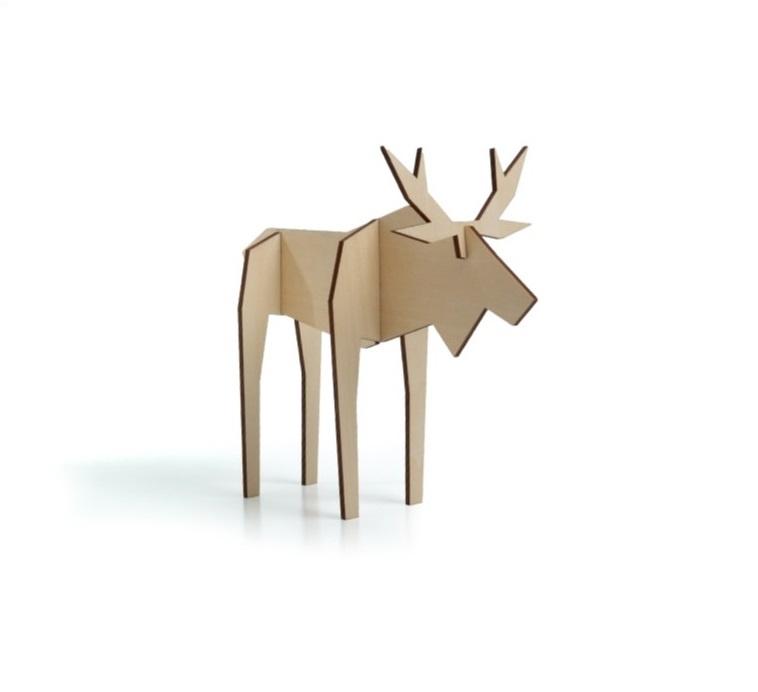 noRdic houten eland - MEDIUM