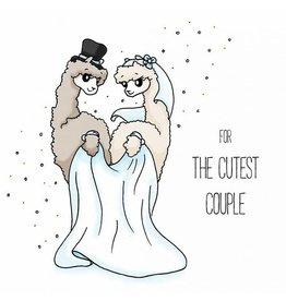 Alpaca wenskaart - for the cutest couple