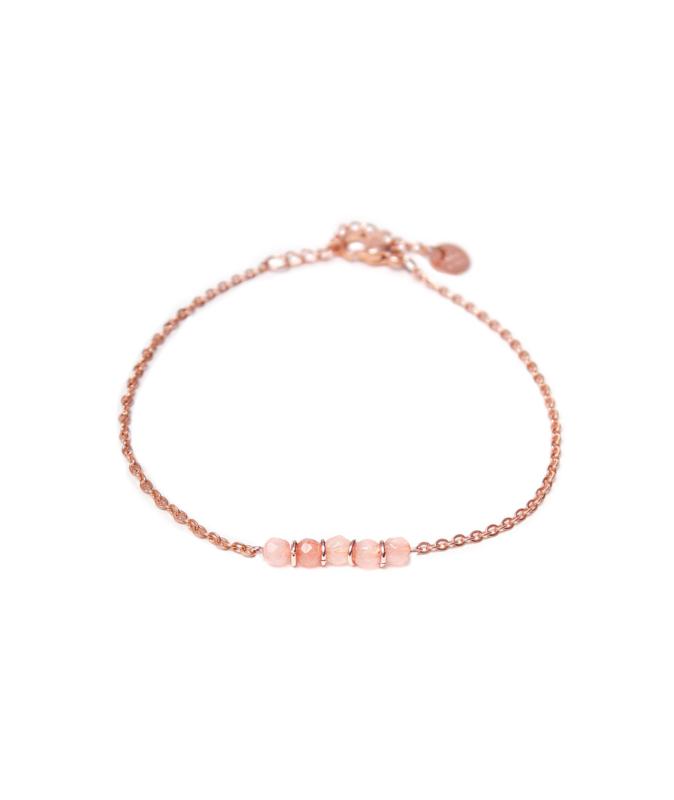 Armband - Jade pink rosegold