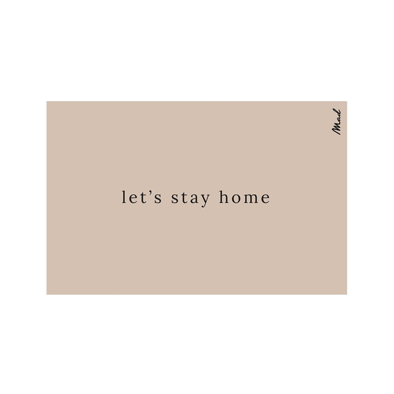 Mat (touch) 65x110 - let's stay home