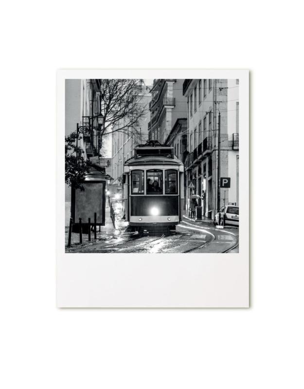 retroprint kaart - tram