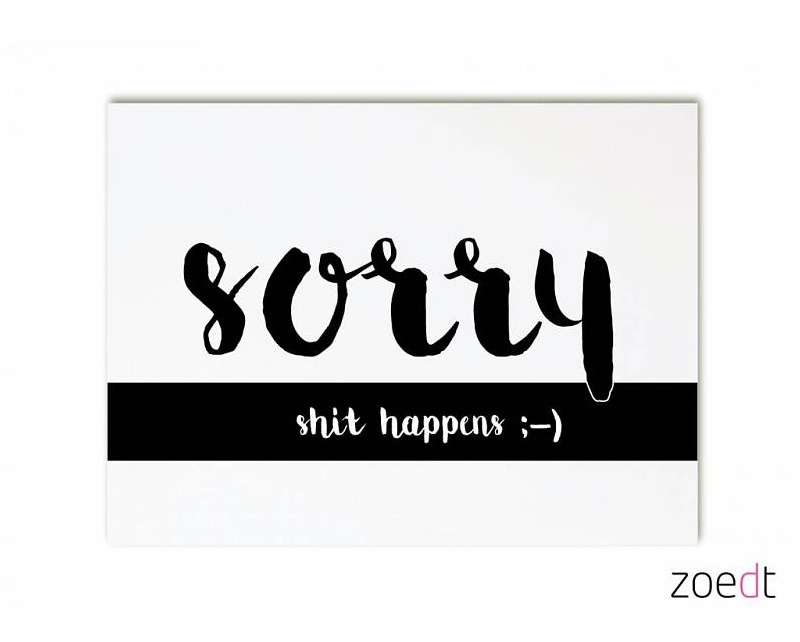 Zoedt kaart A6 - sorry shit happens :-)