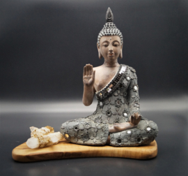 Sitting Buddha Abhaya mudra  28 cm hoog
