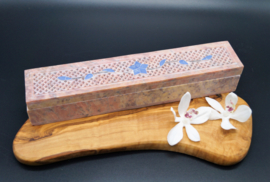 insence burner (box) in pink steatite