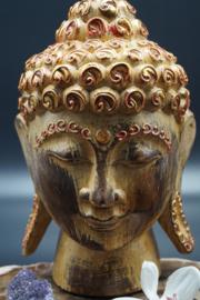 Houten Buddha hoofd 20 cm
