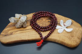 mala with 108 rosewood beads