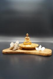 Theelichthouder Boeddha goud