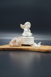 Musical box with turning angel on top 13 cm
