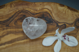 heart clear quartz 4 cm