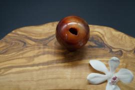 carneool bol 5 cm met kleine geode