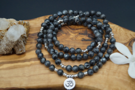 Mala with 108 onyx beads