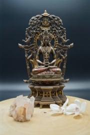 Bronze look Amitabha Buddha 28cm