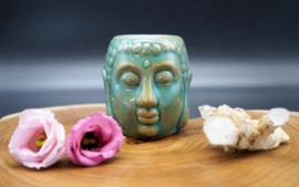 Oliebrander Boeddha groen 8 cm