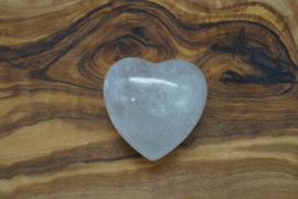 heart clear quartz