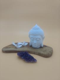 Wit Buddhahoofdje 14 cm