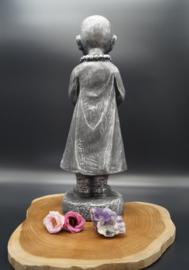 Staande monnik grijs 40 cm