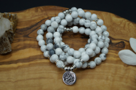 mala with 108 howlite beads