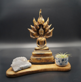 Buddha with flame of enlightment 27 cm x 12 cm