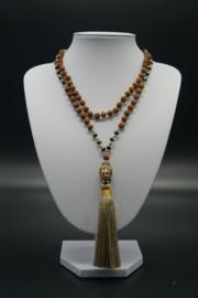 mala with rudraksha beads and Boeddhahead