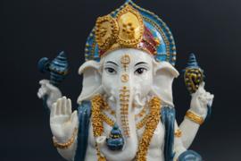 Kleurrijke staande Ganesha 24 cm