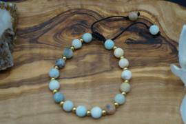 refined bracelet with amazonite beads