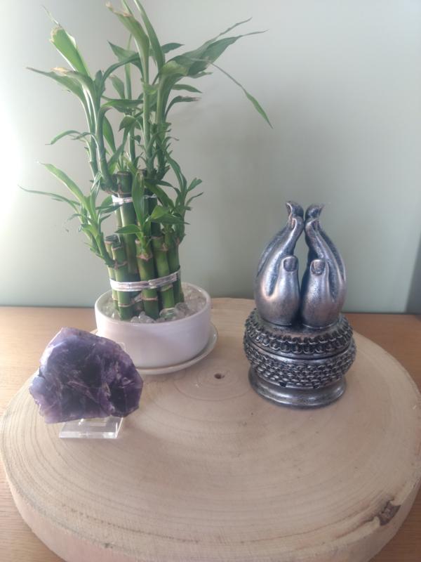 wierookhouder handen van Buddha zilver