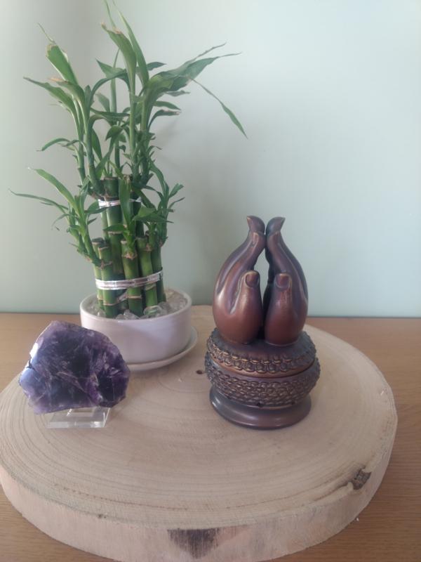 Wierookhouder handen van buddha brons