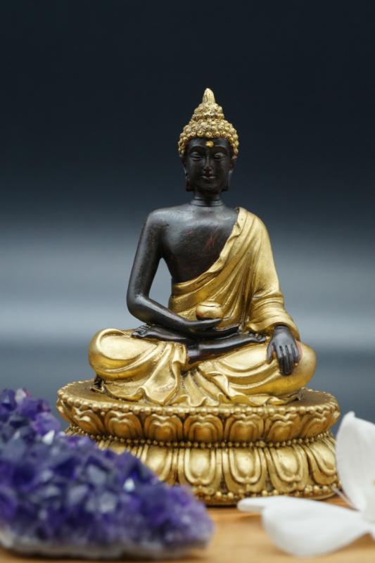 Boeddha met zwart en goud