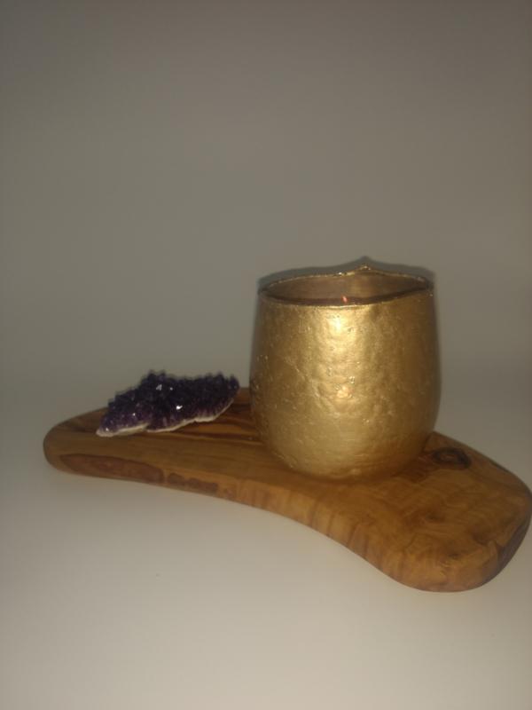 theelichthouder goud 10 cm hoog